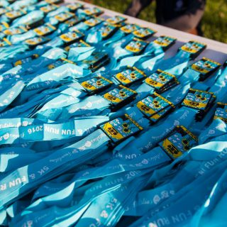 Wings of Change 5k medals