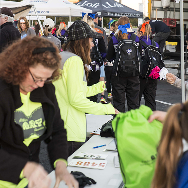Wings Of Change 5k face painting station